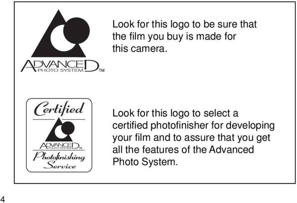 Look for this logo to select a certified photofinisher