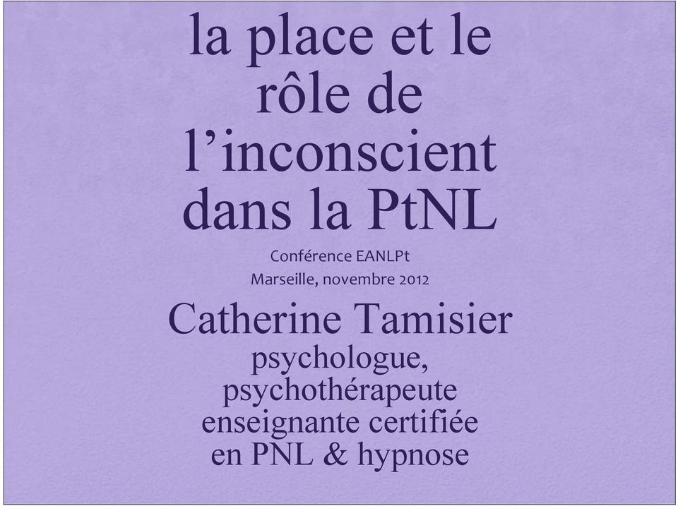 2012 Catherine Tamisier psychologue,