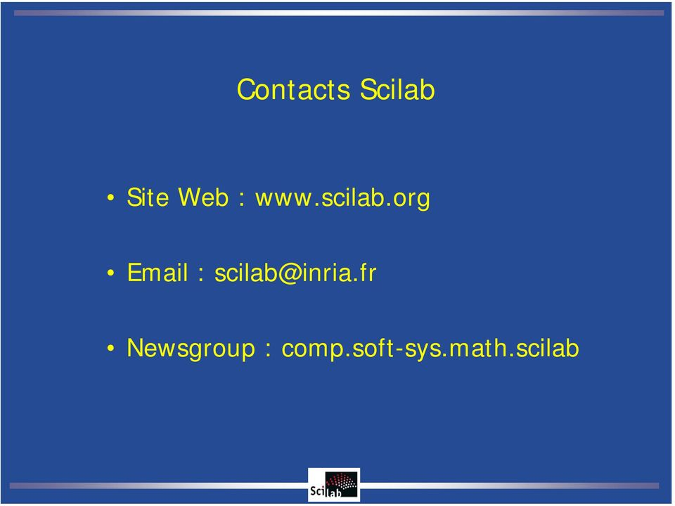 org Email : scilab@inria.