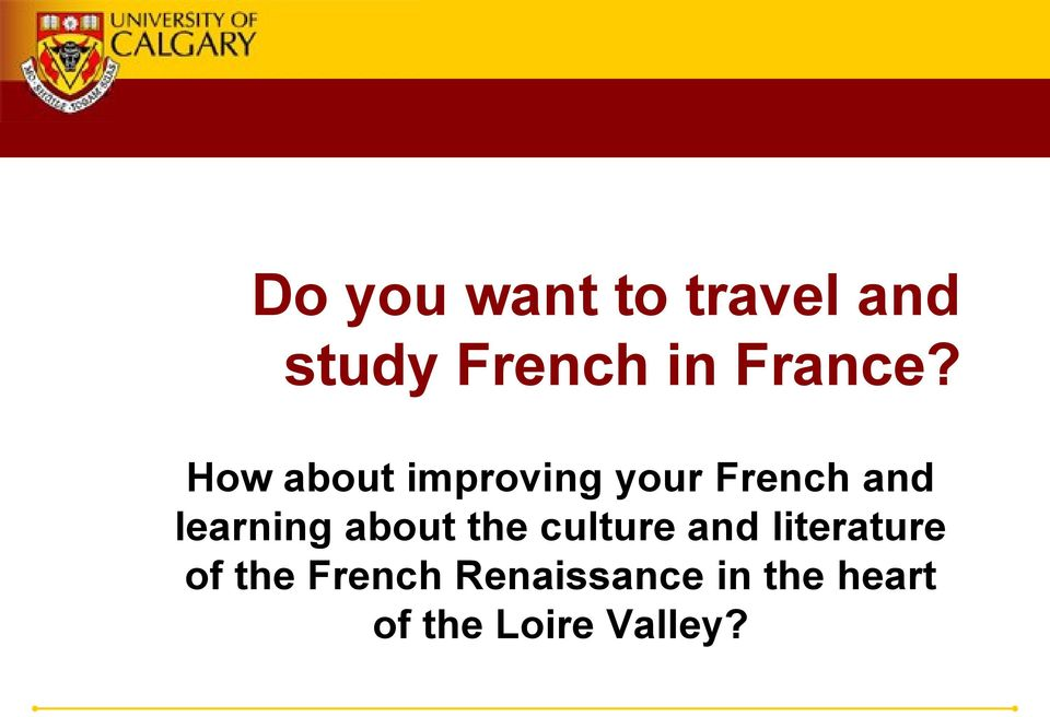 How about improving your French and learning