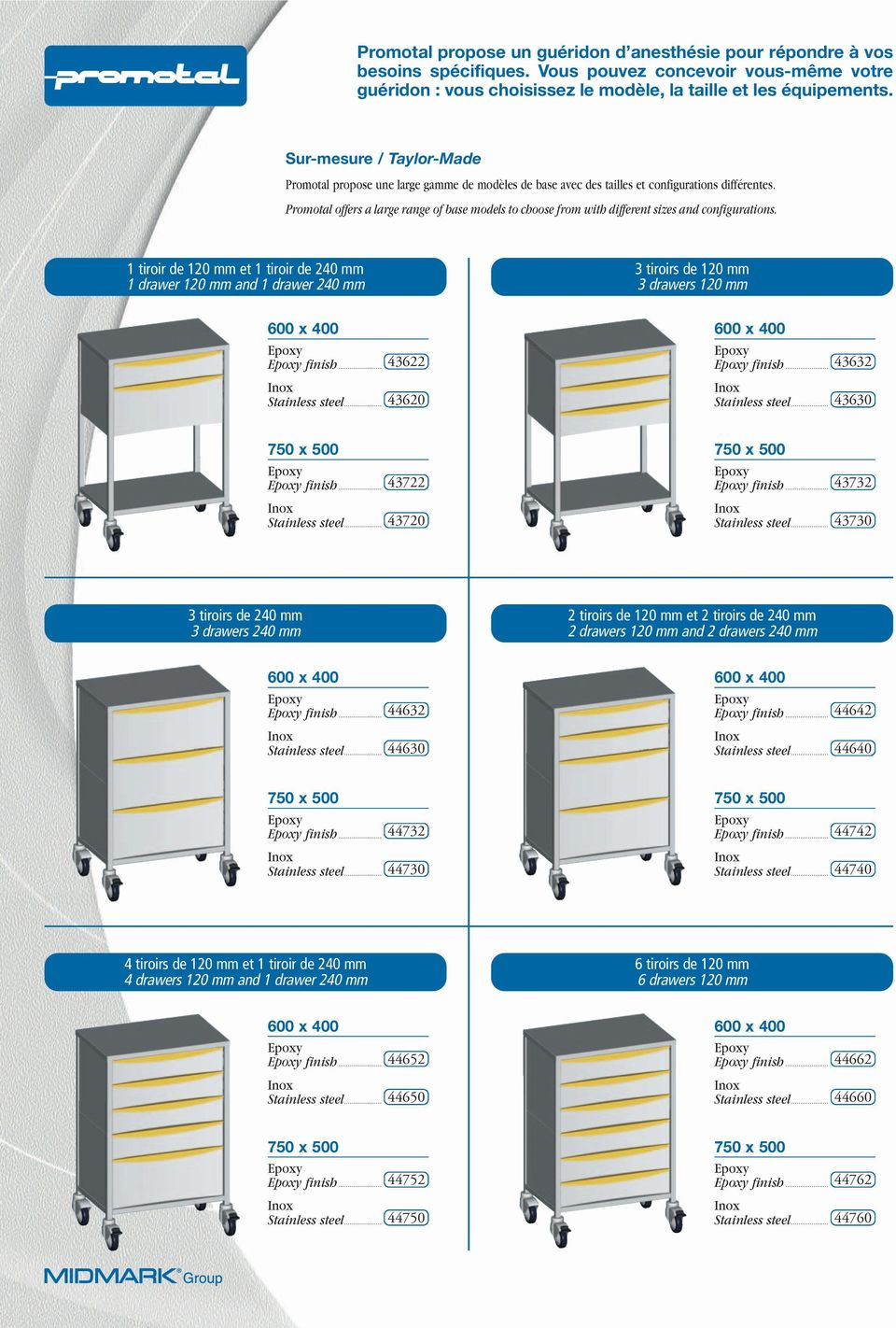 Promotal offers a large range of base models to choose from with different sizes and configurations.