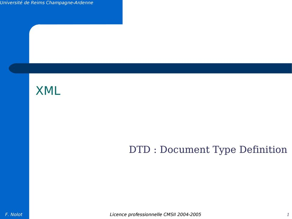 Document Type Definition F.
