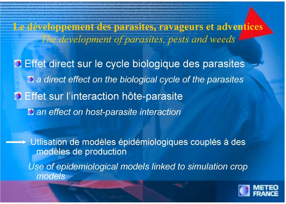 parasites Effet sur l interaction hôte-parasite an effect on host-parasite interaction Utlisation de