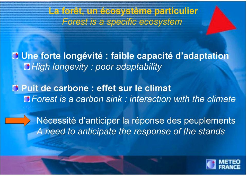 carbone : effet sur le climat Forest is a carbon sink : interaction with the climate