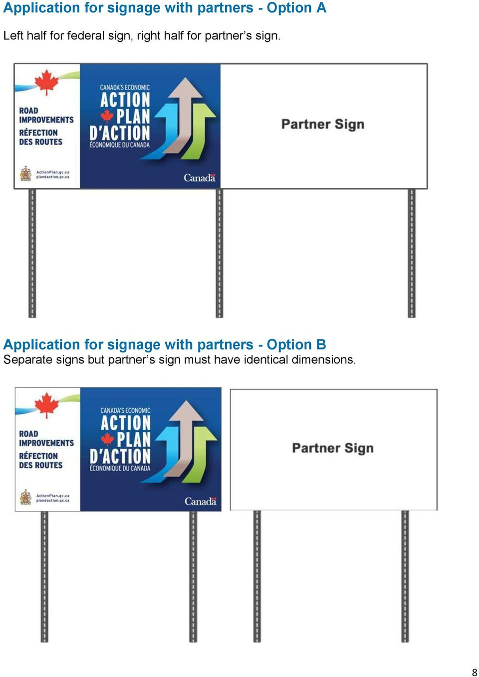 Application for signage with partners - Option B