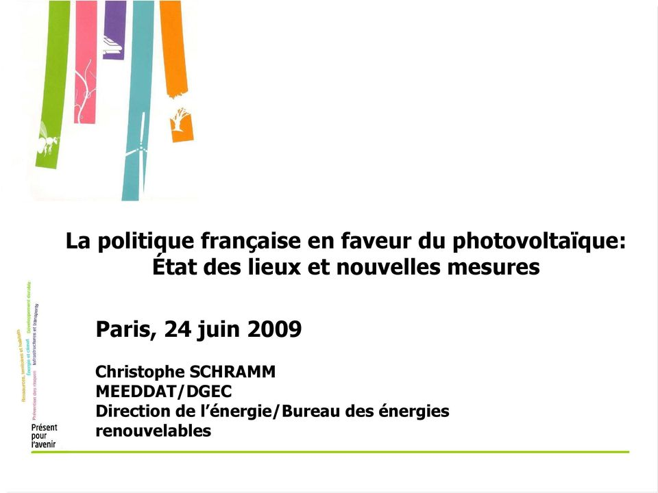 mesures Paris, 24 juin 2009 Christophe SCHRAMM