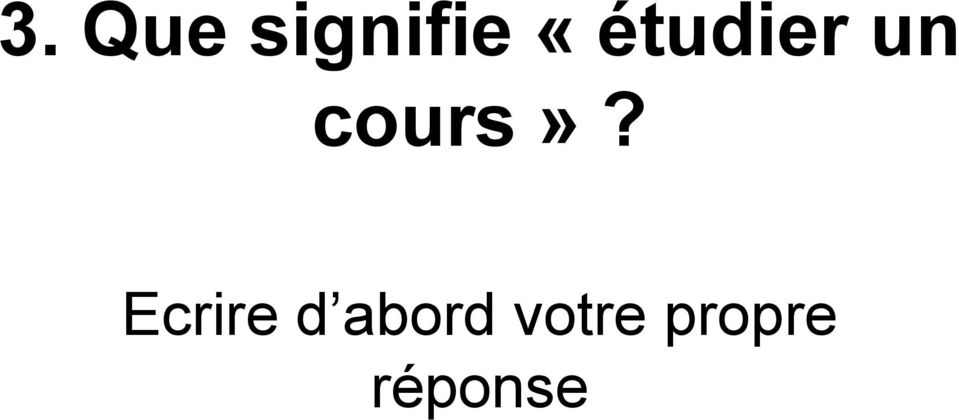 cours»?