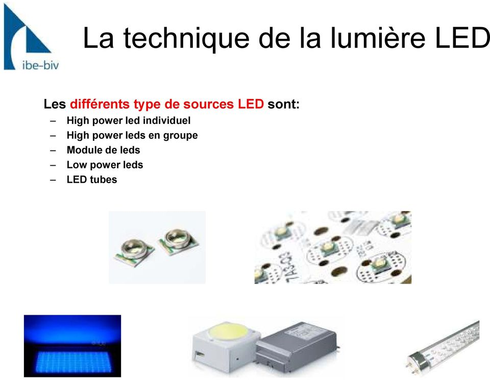 individuel High power leds en