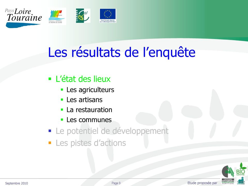 restauration Les communes Le potentiel