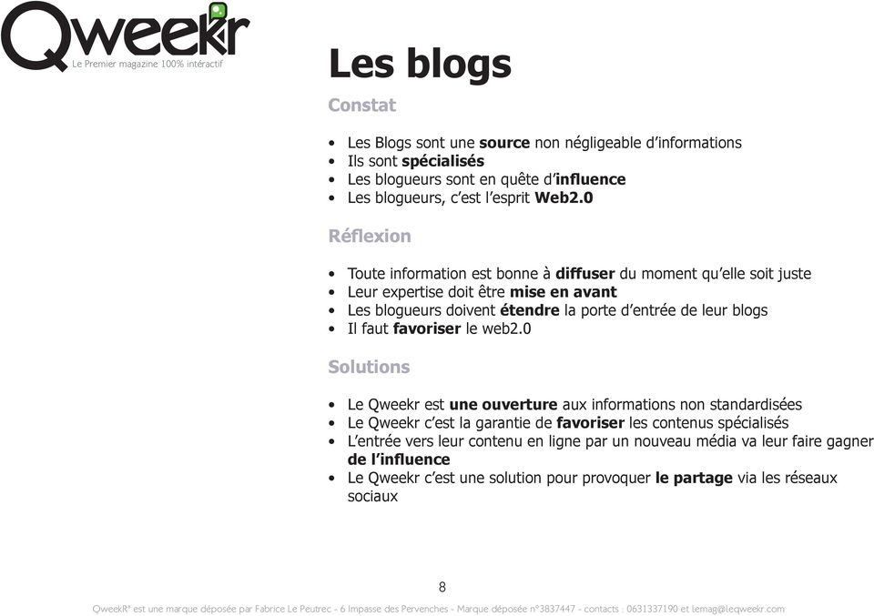 leur blogs Il faut favoriser le web2.