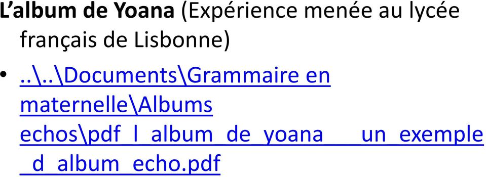 .\Documents\Grammaire en