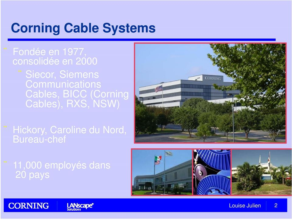 BICC (Corning Cables), RXS, NSW) Hickory,