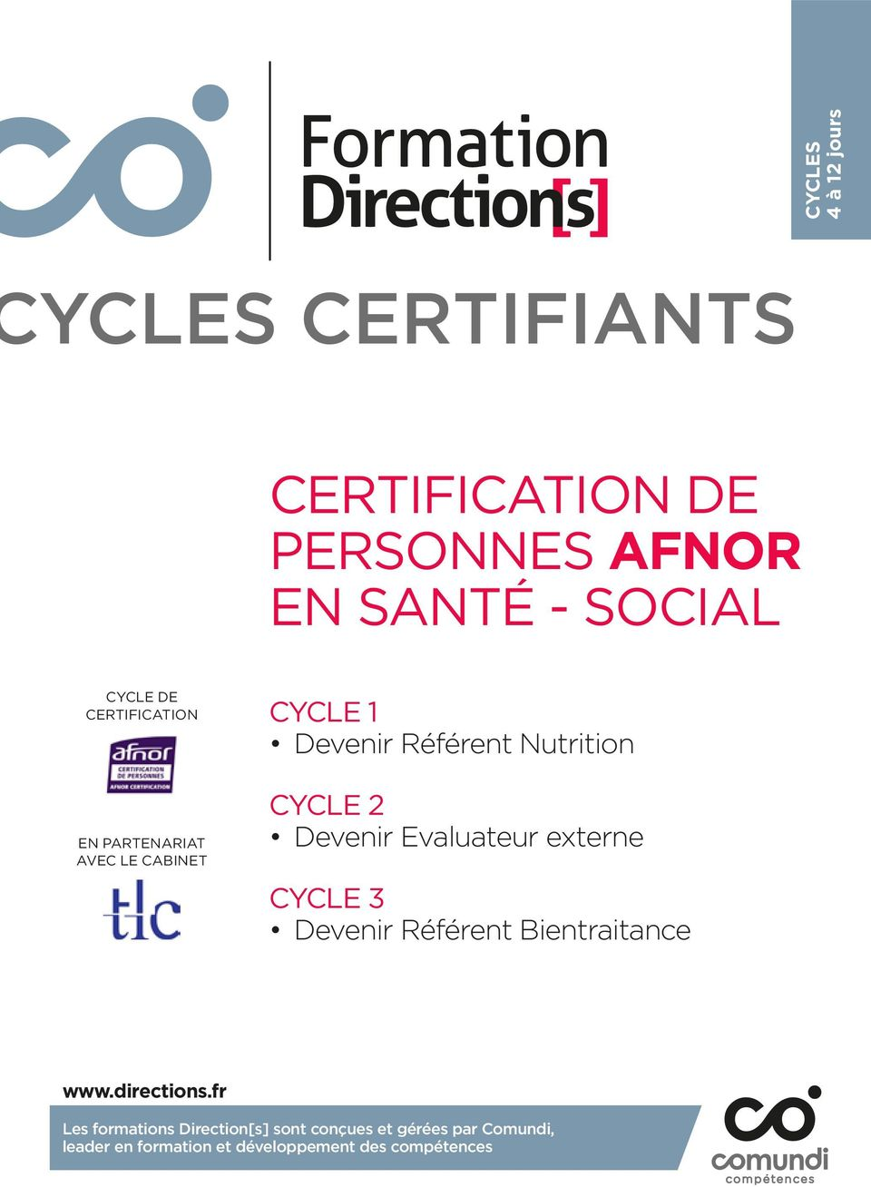 Devenir Evaluateur externe CYCLE 3 Devenir Référent Bientraitance www.directions.