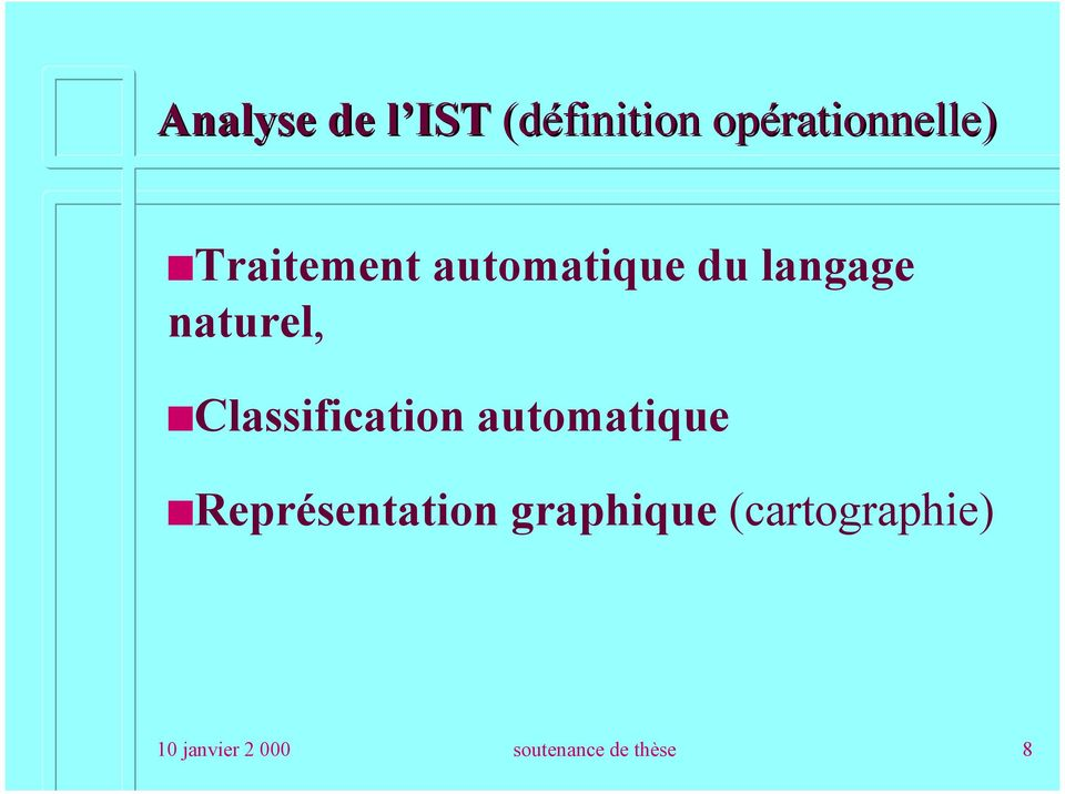 Classification automatique Représentation