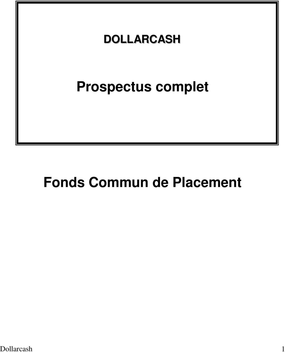 complet Fonds