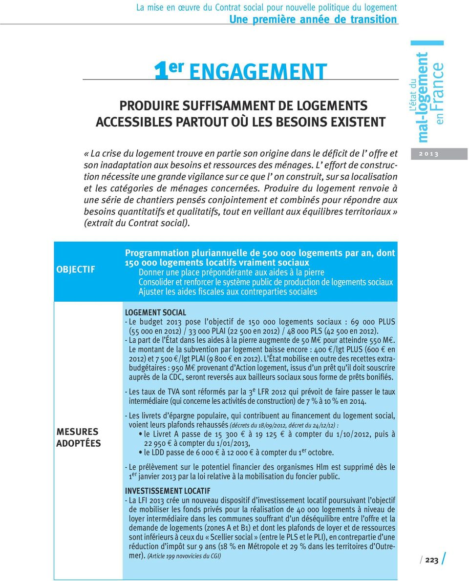 Une premi re ann e de transition pdf - Plafonds de ressources logement social ...