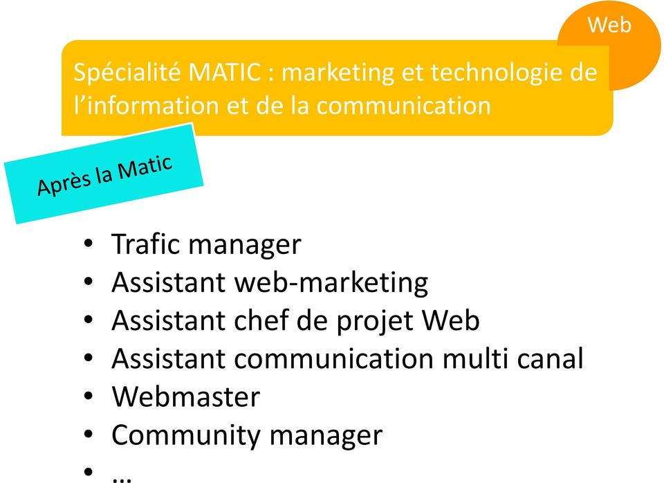 Assistant web-marketing Assistant chef de projet Web