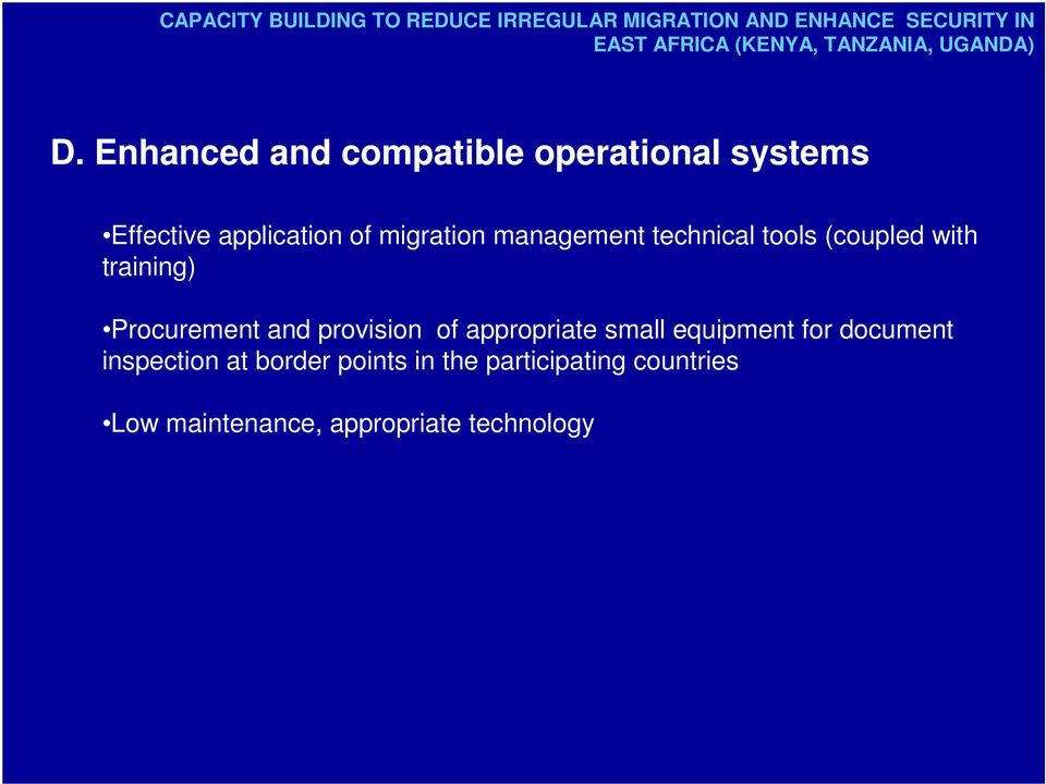 Enhanced and compatible operational systems Effective application of migration management technical