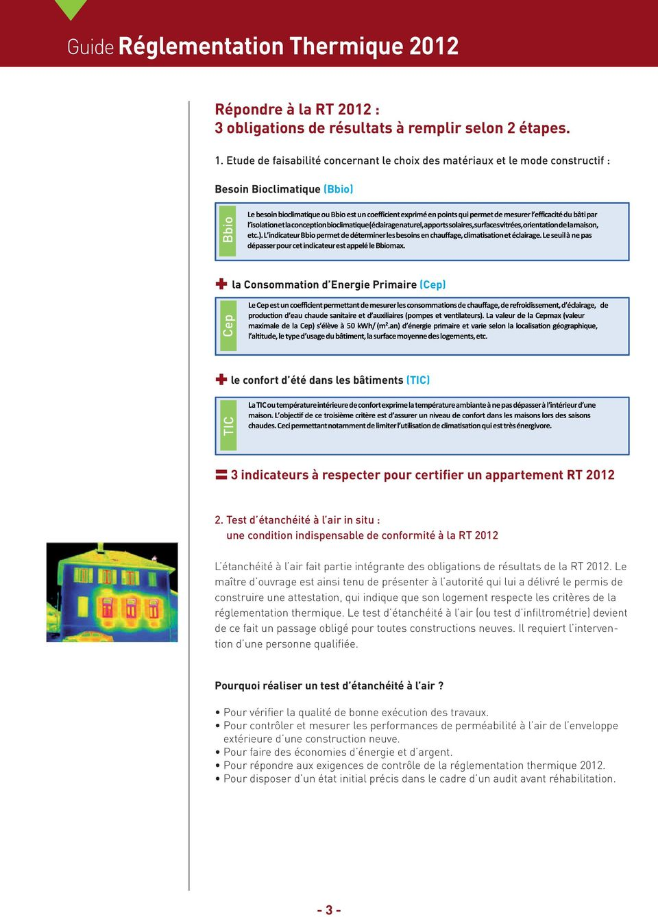 Cep Bbio = 3 indicateurs à respecter pour certifier un appartement RT 2012 2.