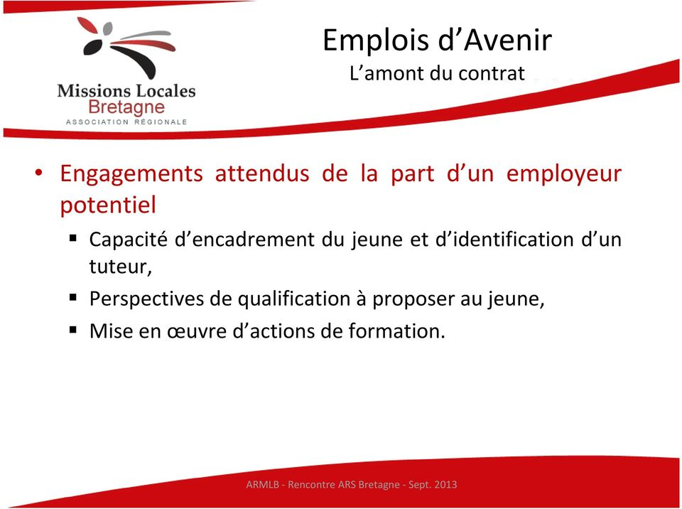 identification d un tuteur, Perspectives de qualification