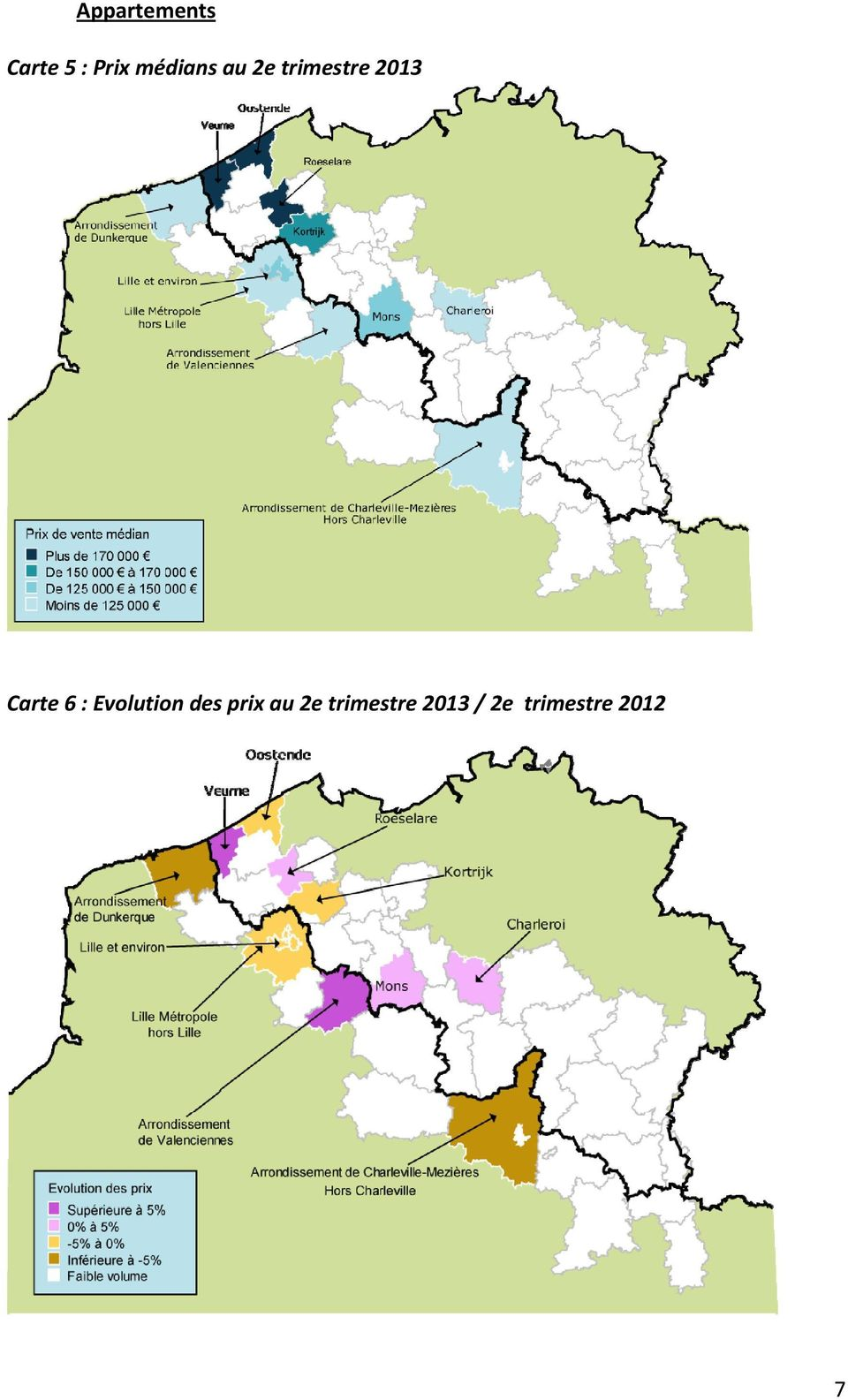 Carte 6 : Evolution
