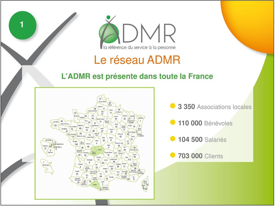 350 Associations locales 110 000
