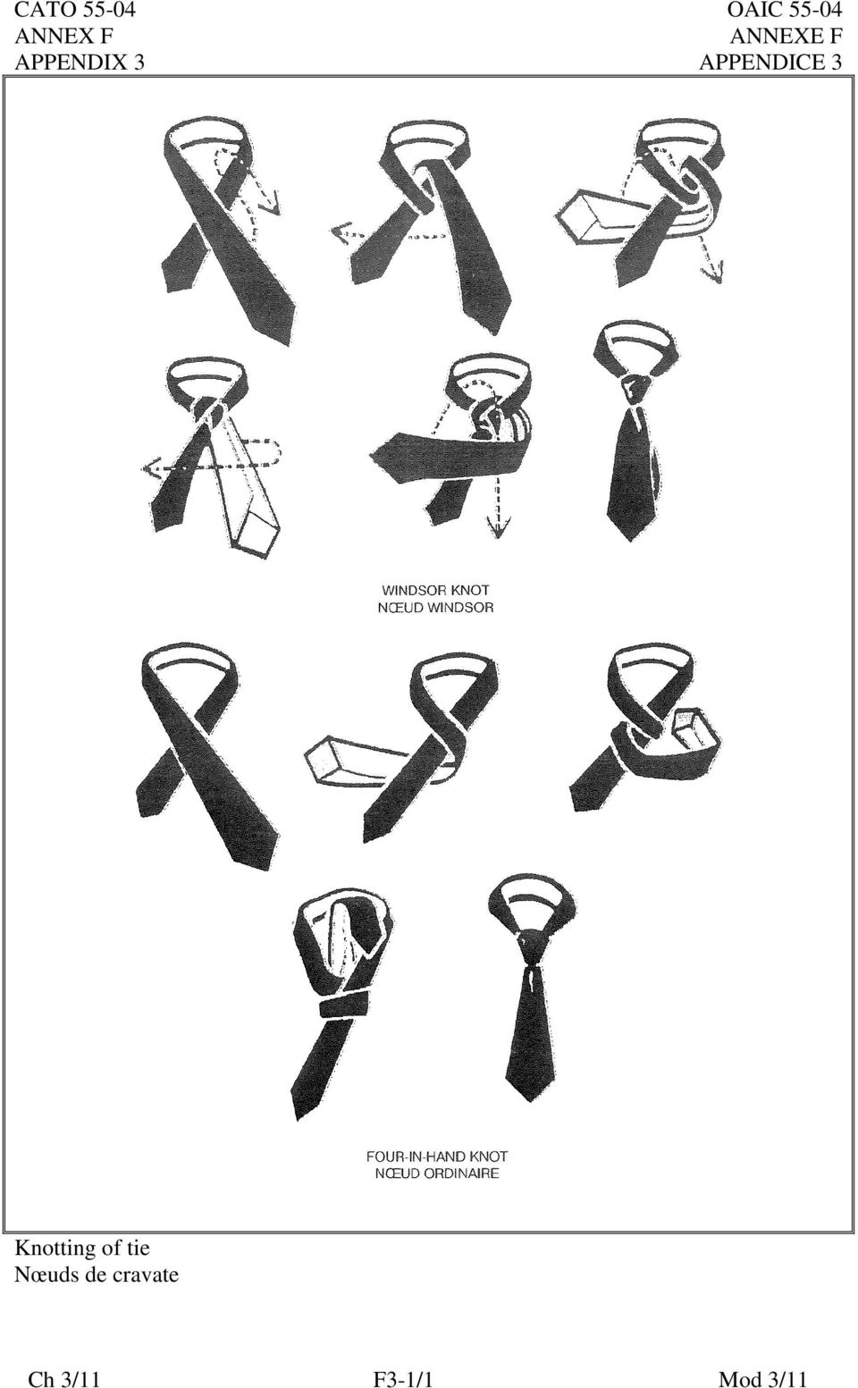 Knotting of tie