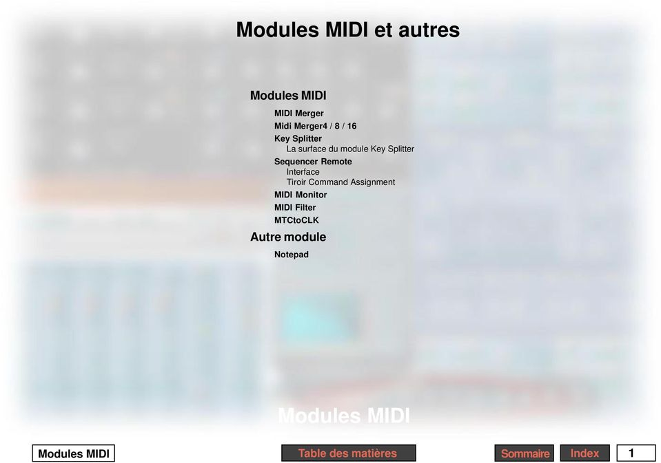 Remote Interface Tiroir Command Assignment MIDI