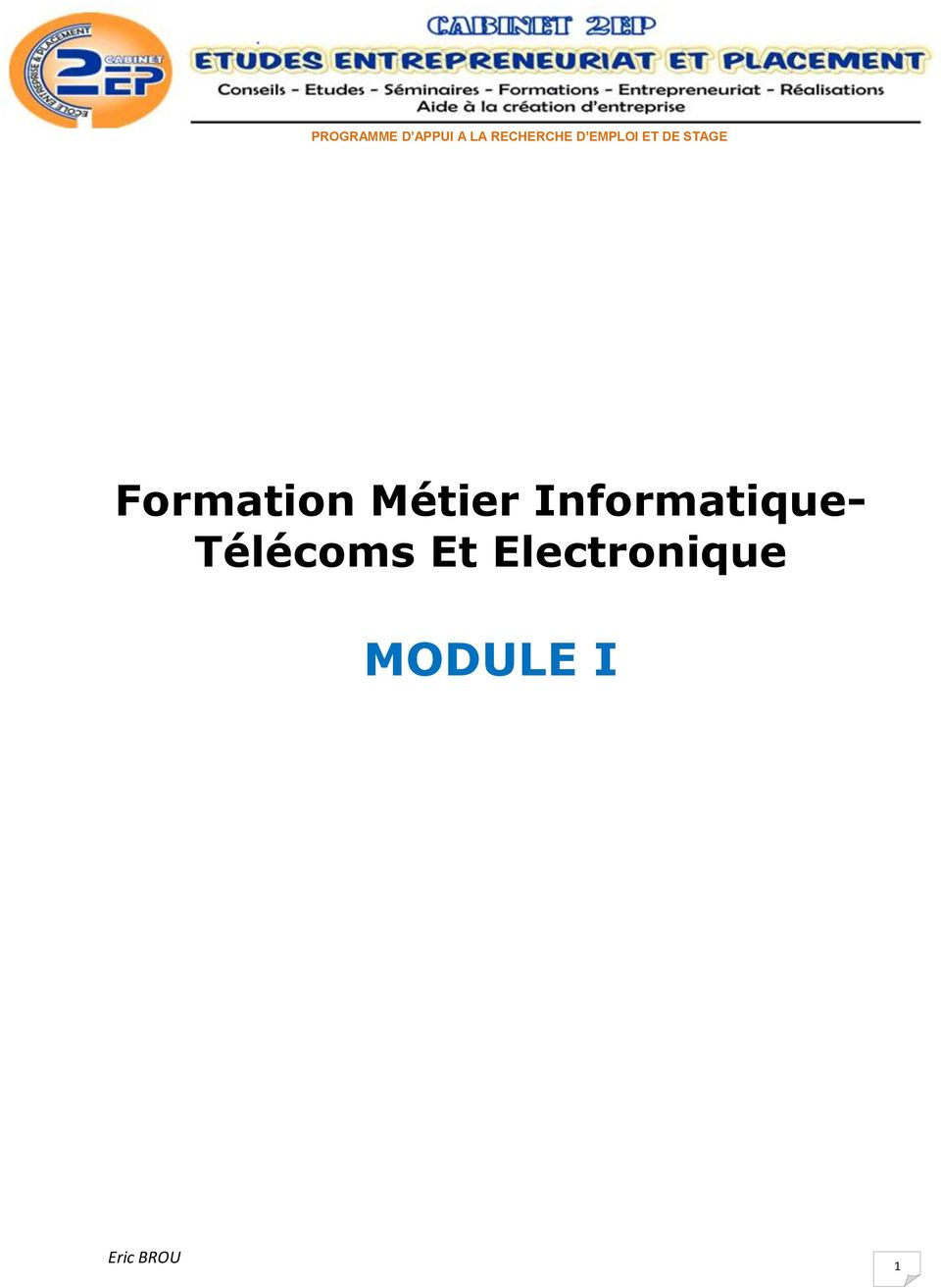 STAGE Formation Métier