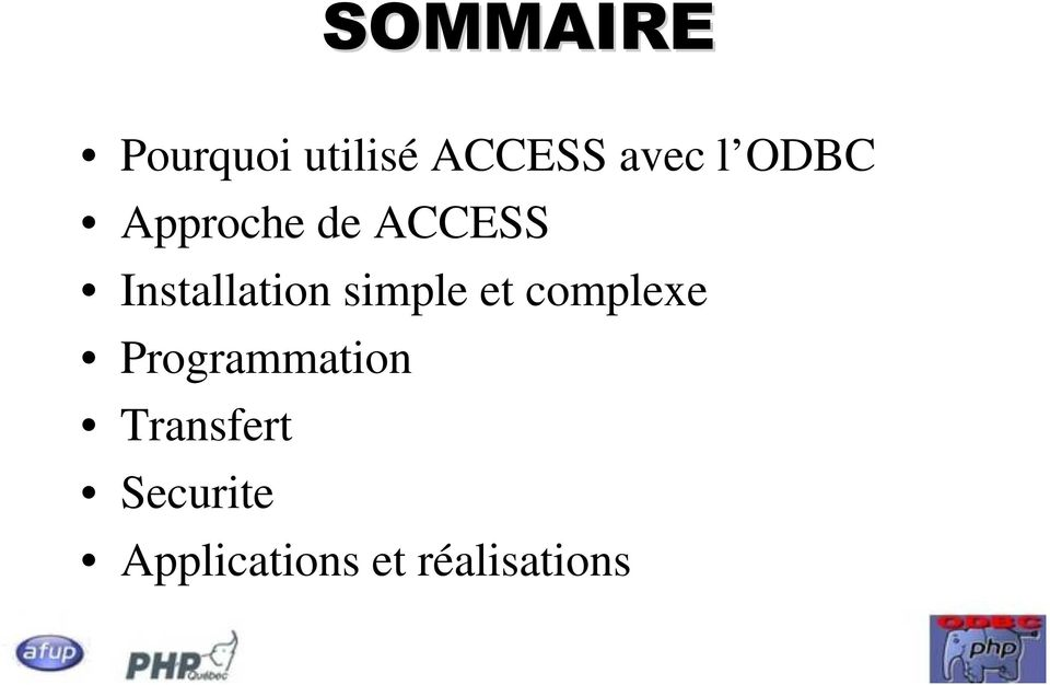simple et complexe Programmation