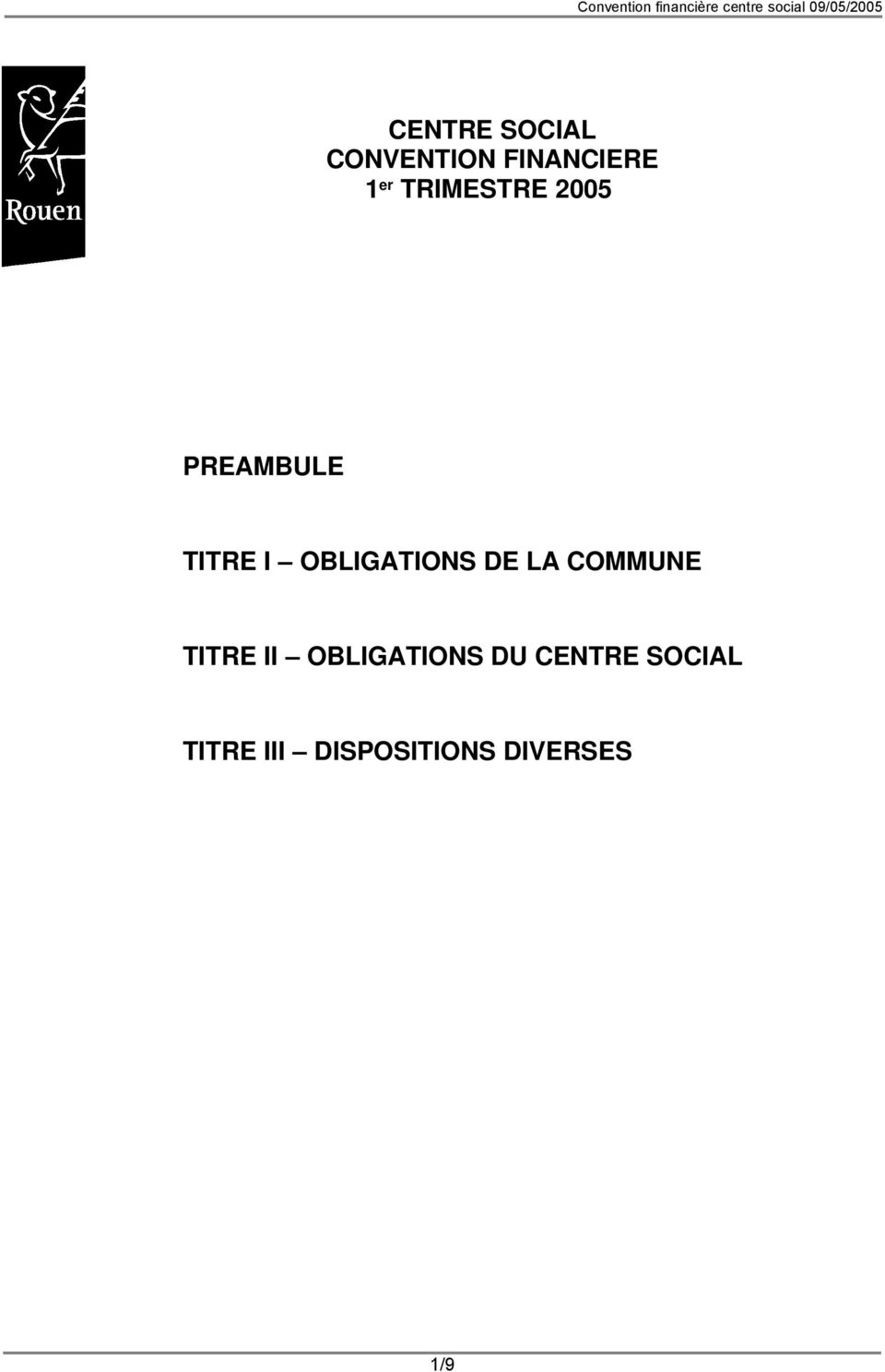 OBLIGATIONS DE LA COMMUNE TITRE II