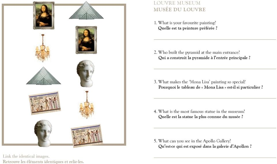 What makes the Mona Lisa painting so special? Pourquoi le tableau de «Mona Lisa» est-il si particulier? 4.