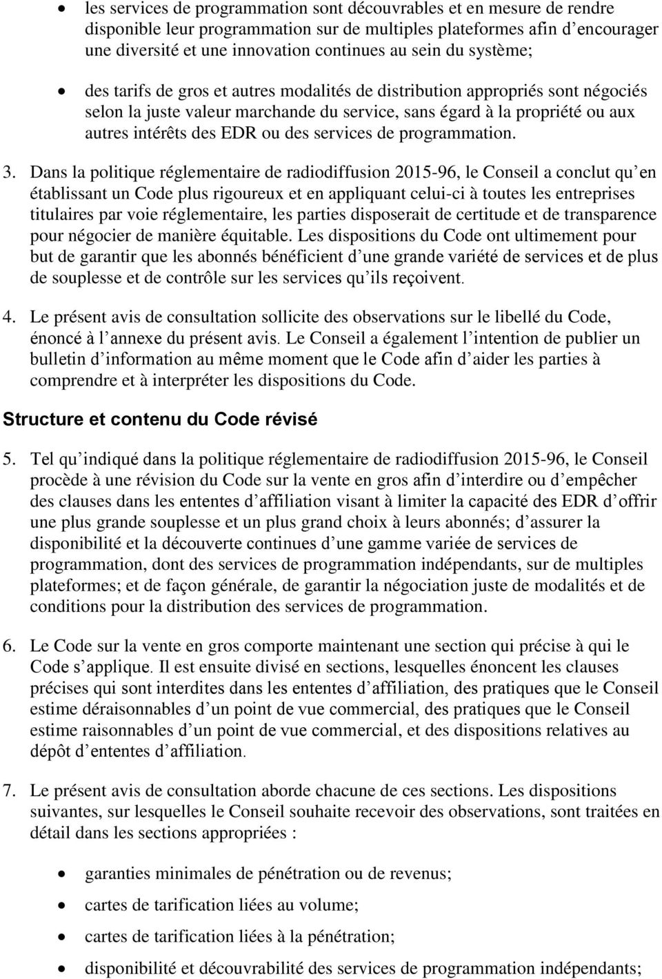 services de programmation. 3.