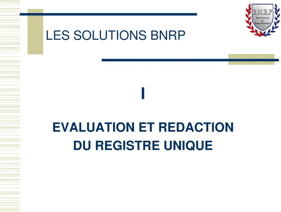EVALUATION ET