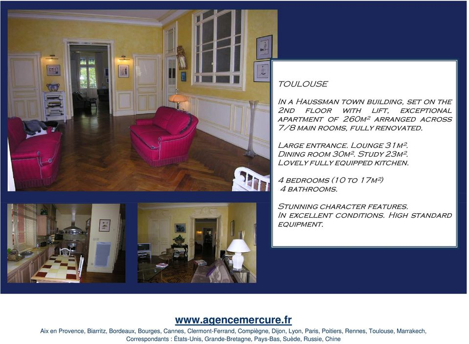 Lounge 31m². Dining room 30m². Study 23m². Lovely fully equipped kitchen.