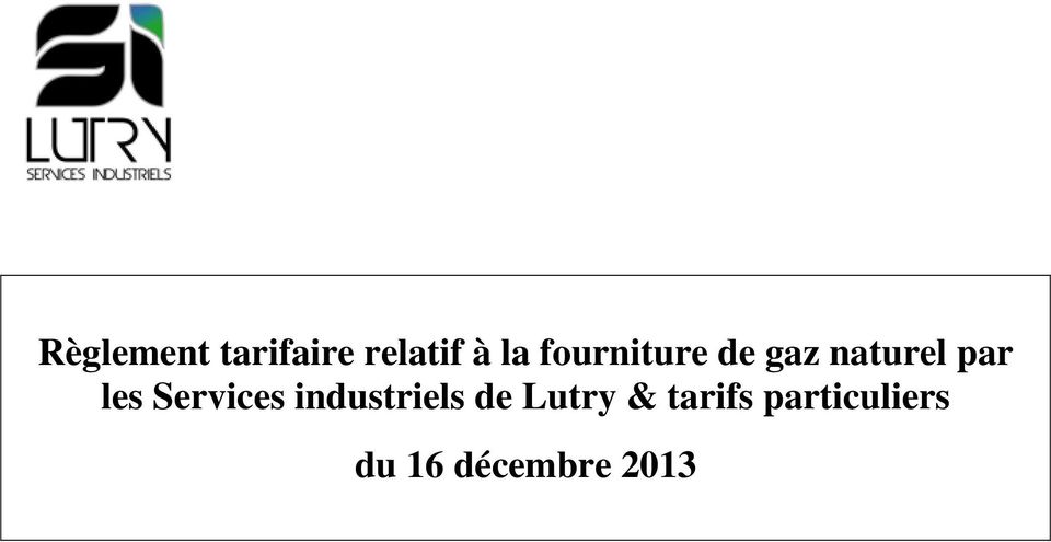 Services industriels de Lutry &