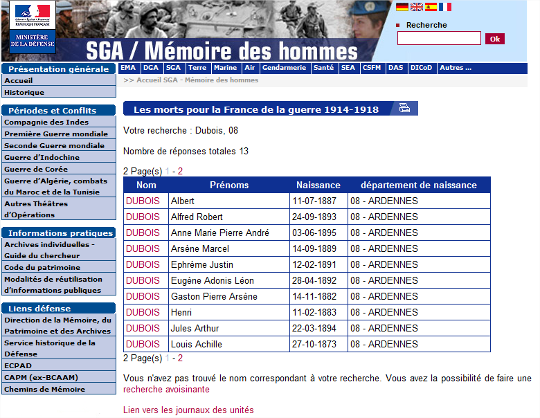 France»: http://www.memoiredeshommes.sga.defense.gouv.fr/fr/article.