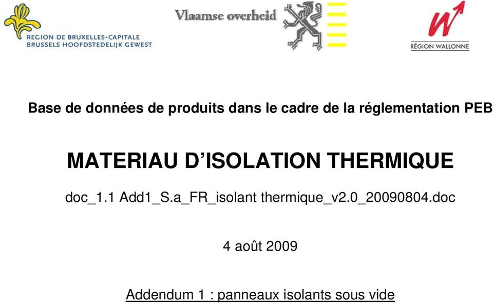 doc_1.1 Add1_S.a_FR_isolant thermique_v2.0_20090804.