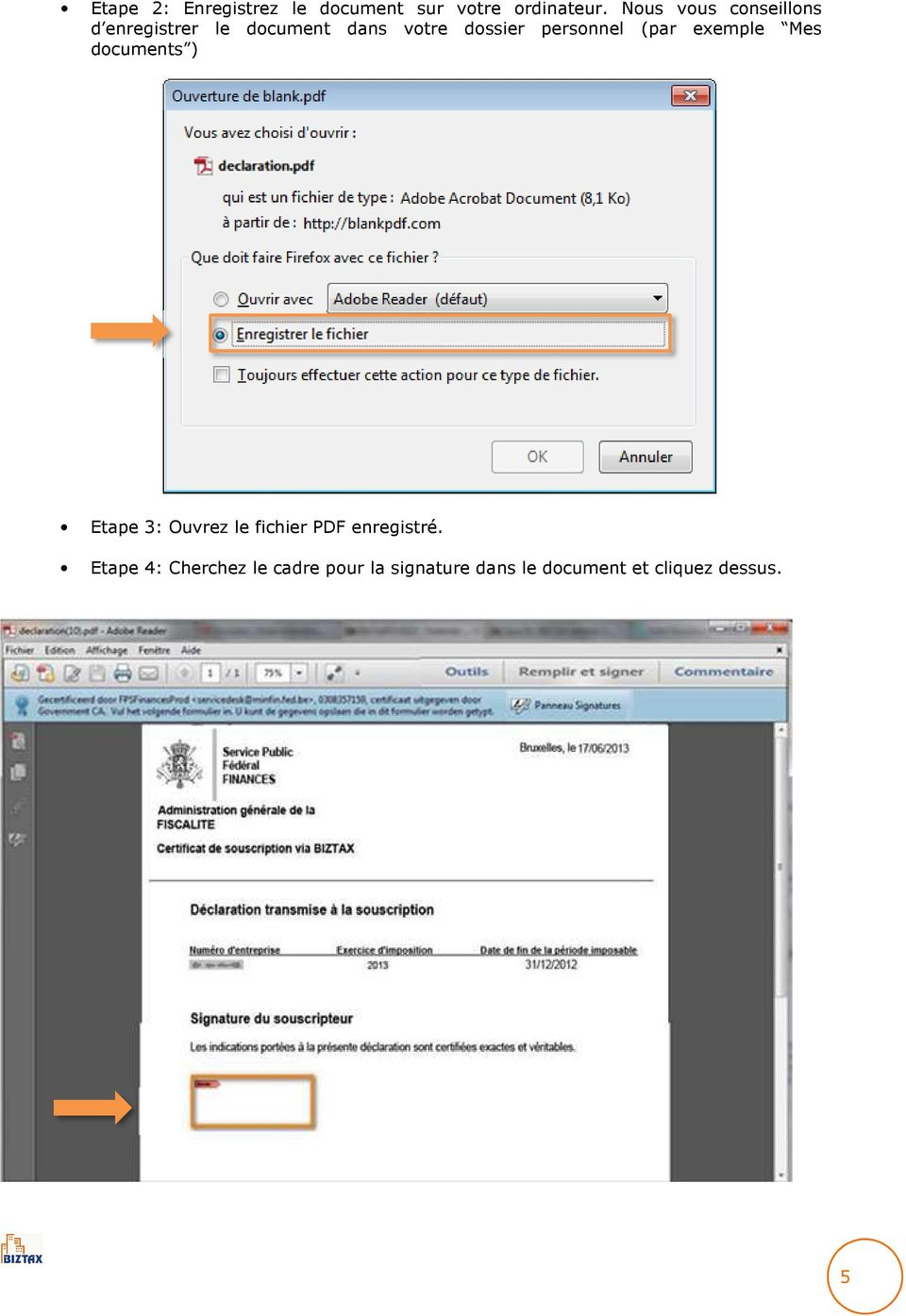 personnel (par exemple Mes documents ) Etape 3: Ouvrez le fichier PDF