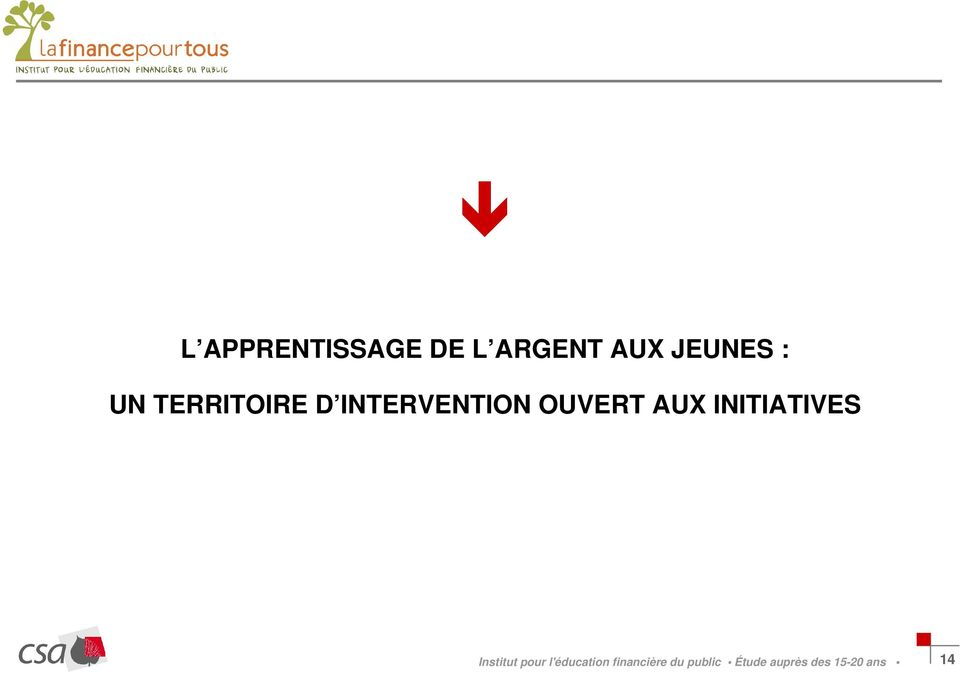 INITIATIVES Institut pour l'éducation