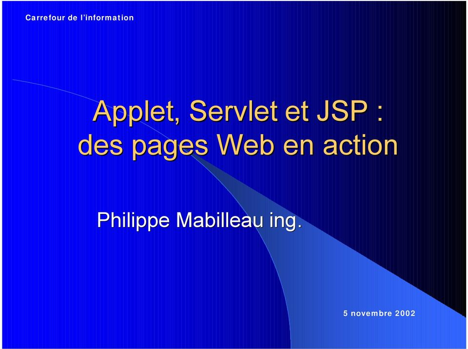 pages Web en action Philippe