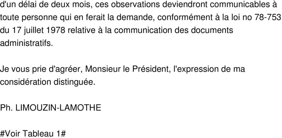 à la communication des documents administratifs.