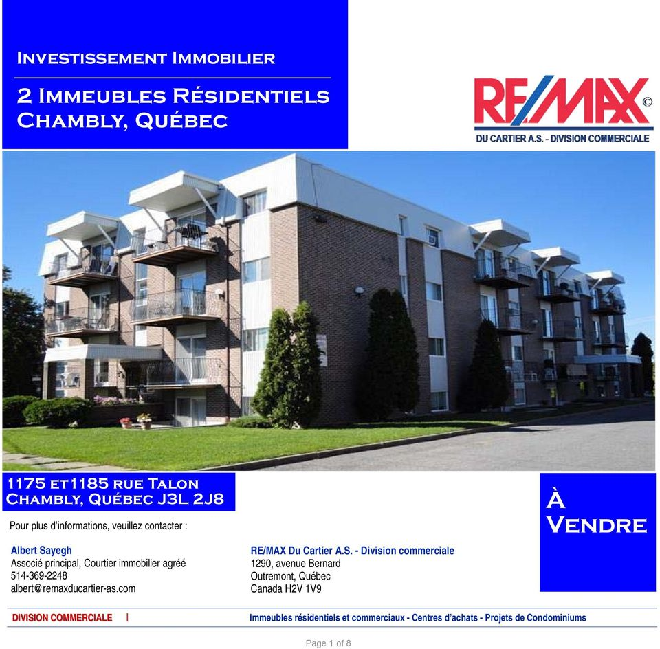 albert@remaxducartier-as.com RE/MAX Du Cartier A.S.