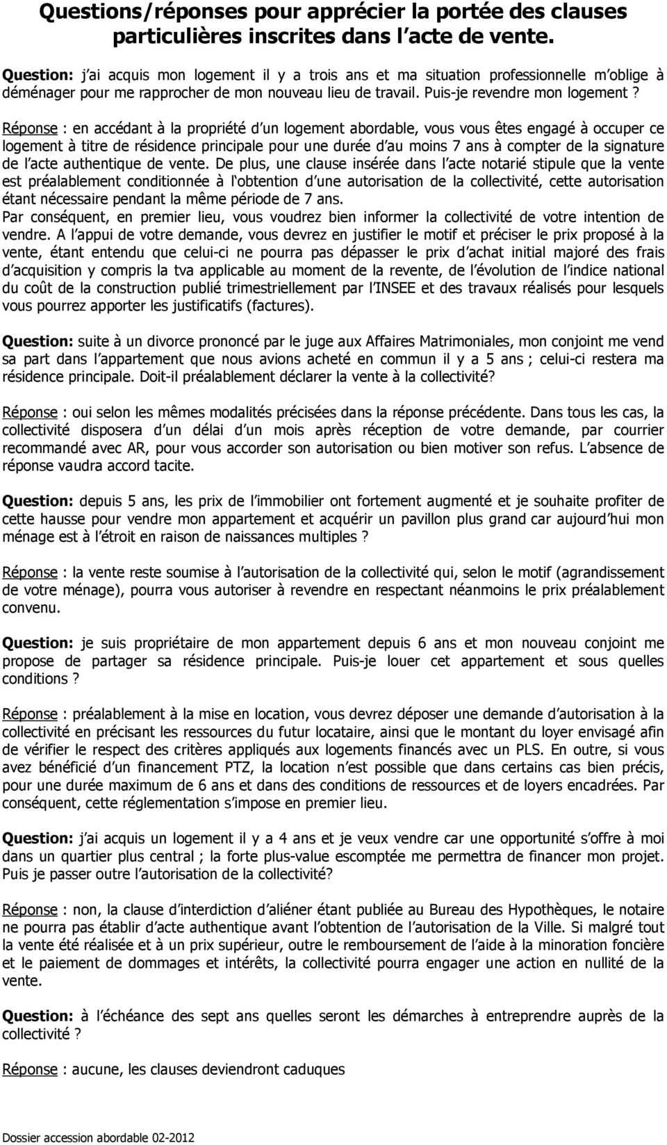 Conditions D Eligibilite Pour L Accession A La Propriete D Un