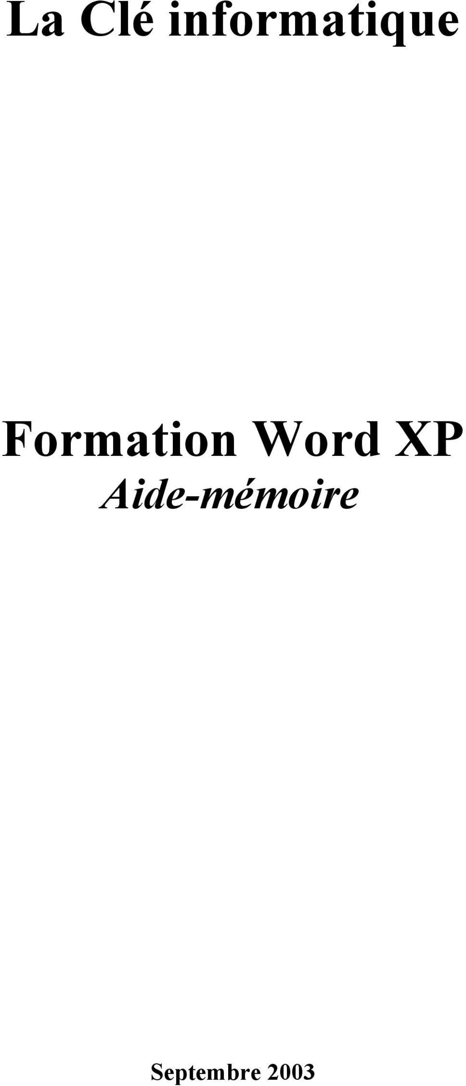 Formation Word