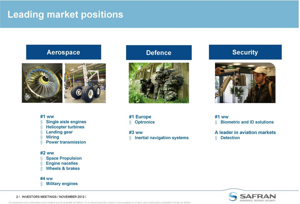 brakes #4 ww Military engines #1 Europe Optronics #3 ww Inertial navigation systems #1 ww