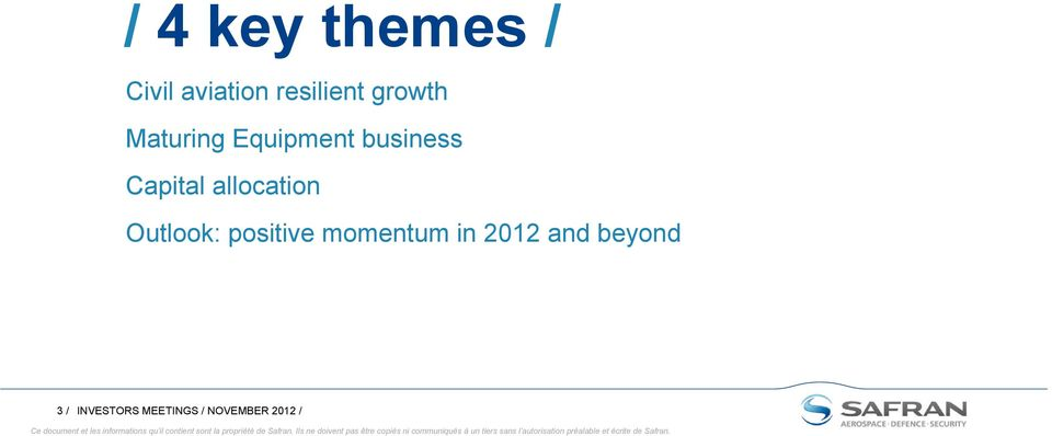 allocation Outlook: positive momentum in 2012