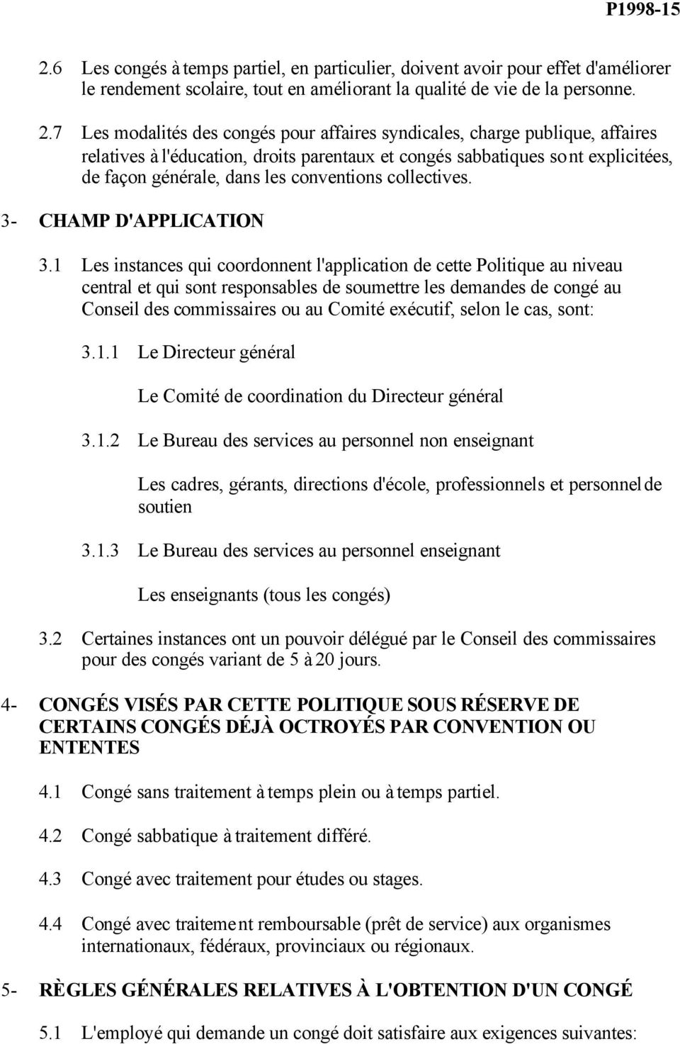 conventions collectives. 3- CHAMP D'APPLICATION 3.
