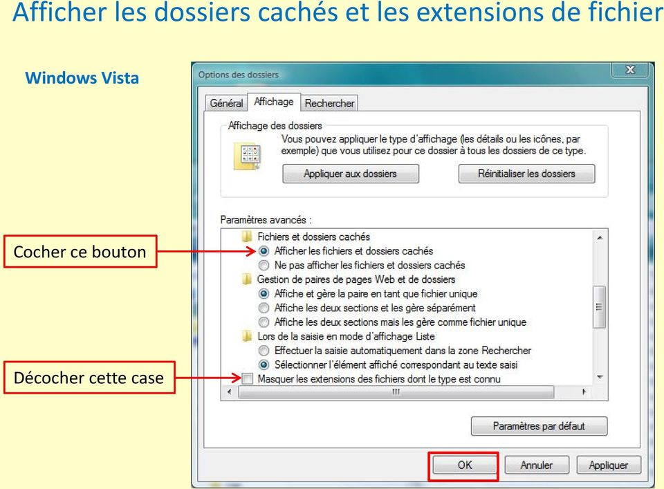 de fichier Windows Vista