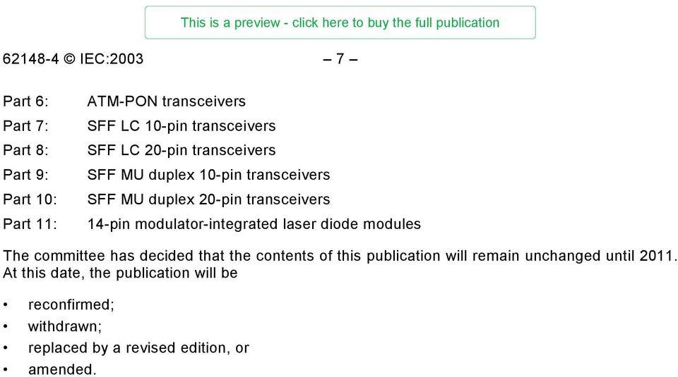 modulator-integrated laser diode modules The committee has decided that the contents of this publication will